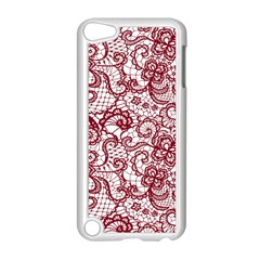 Transparent Lace With Flowers Decoration Apple Ipod Touch 5 Case (white)