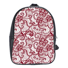 Transparent Lace With Flowers Decoration School Bags (xl)