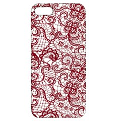 Transparent Lace With Flowers Decoration Apple Iphone 5 Hardshell Case With Stand