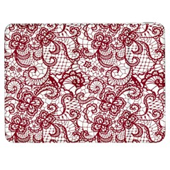 Transparent Lace With Flowers Decoration Samsung Galaxy Tab 7  P1000 Flip Case