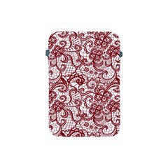 Transparent Lace With Flowers Decoration Apple Ipad Mini Protective Soft Cases