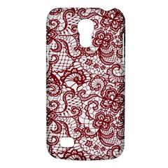 Transparent Lace With Flowers Decoration Galaxy S4 Mini
