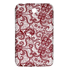 Transparent Lace With Flowers Decoration Samsung Galaxy Tab 3 (7 ) P3200 Hardshell Case