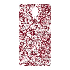 Transparent Lace With Flowers Decoration Samsung Galaxy Note 3 N9005 Hardshell Back Case