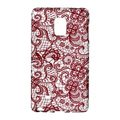 Transparent Lace With Flowers Decoration Galaxy Note Edge