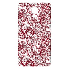 Transparent Lace With Flowers Decoration Galaxy Note 4 Back Case