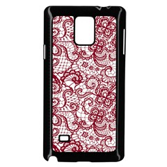 Transparent Lace With Flowers Decoration Samsung Galaxy Note 4 Case (black)