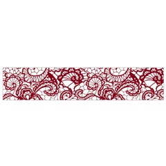 Transparent Lace With Flowers Decoration Flano Scarf (small)