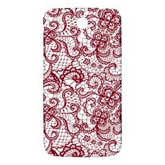 Transparent Lace With Flowers Decoration Samsung Galaxy Mega I9200 Hardshell Back Case