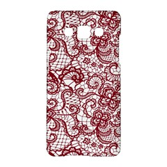 Transparent Lace With Flowers Decoration Samsung Galaxy A5 Hardshell Case