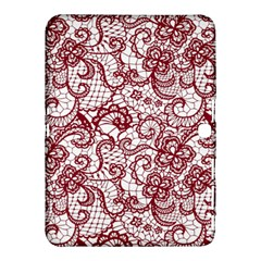 Transparent Lace With Flowers Decoration Samsung Galaxy Tab 4 (10 1 ) Hardshell Case