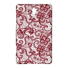 Transparent Lace With Flowers Decoration Samsung Galaxy Tab S (8 4 ) Hardshell Case