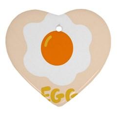 Egg Eating Chicken Omelette Food Ornament (heart)