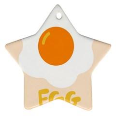 Egg Eating Chicken Omelette Food Ornament (Star)