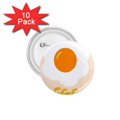 Egg Eating Chicken Omelette Food 1.75  Buttons (10 pack)