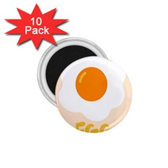 Egg Eating Chicken Omelette Food 1.75  Magnets (10 pack)
