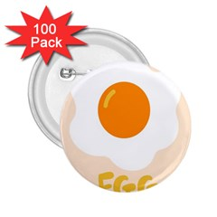 Egg Eating Chicken Omelette Food 2.25  Buttons (100 pack)