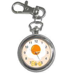 Egg Eating Chicken Omelette Food Key Chain Watches