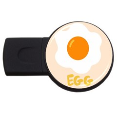Egg Eating Chicken Omelette Food Usb Flash Drive Round (2 Gb)