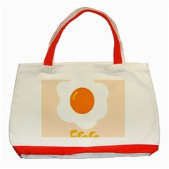 Egg Eating Chicken Omelette Food Classic Tote Bag (Red)