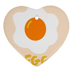 Egg Eating Chicken Omelette Food Heart Ornament (two Sides)
