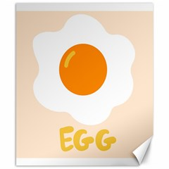 Egg Eating Chicken Omelette Food Canvas 8  x 10