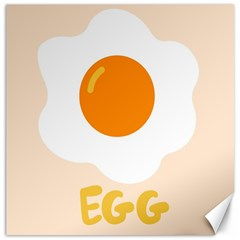 Egg Eating Chicken Omelette Food Canvas 20  X 20