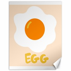 Egg Eating Chicken Omelette Food Canvas 18  x 24
