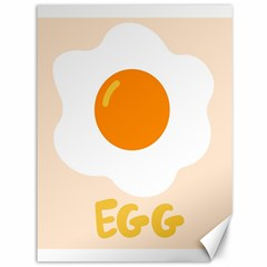 Egg Eating Chicken Omelette Food Canvas 36  x 48
