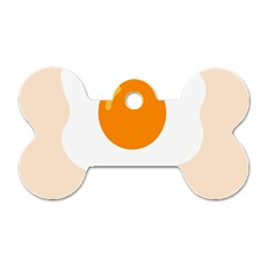Egg Eating Chicken Omelette Food Dog Tag Bone (one Side)