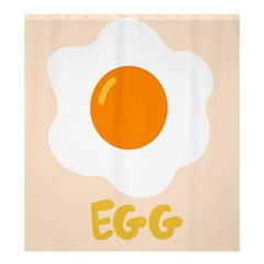 Egg Eating Chicken Omelette Food Shower Curtain 66  X 72  (large)