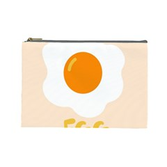 Egg Eating Chicken Omelette Food Cosmetic Bag (large)