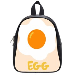 Egg Eating Chicken Omelette Food School Bags (Small)