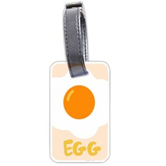 Egg Eating Chicken Omelette Food Luggage Tags (Two Sides)