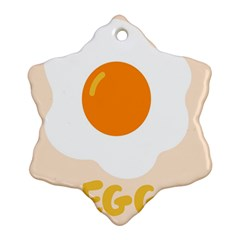 Egg Eating Chicken Omelette Food Snowflake Ornament (Two Sides)