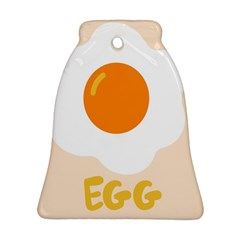 Egg Eating Chicken Omelette Food Bell Ornament (Two Sides)