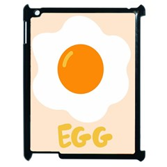 Egg Eating Chicken Omelette Food Apple iPad 2 Case (Black)