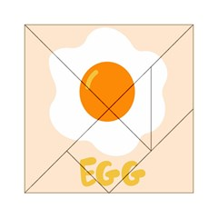 Egg Eating Chicken Omelette Food Acrylic Tangram Puzzle (6  X 6 )
