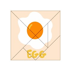 Egg Eating Chicken Omelette Food Acrylic Tangram Puzzle (4  x 4 )