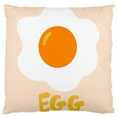 Egg Eating Chicken Omelette Food Large Cushion Case (two Sides)