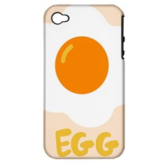 Egg Eating Chicken Omelette Food Apple iPhone 4/4S Hardshell Case (PC+Silicone)