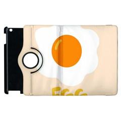 Egg Eating Chicken Omelette Food Apple Ipad 3/4 Flip 360 Case