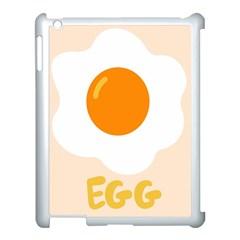 Egg Eating Chicken Omelette Food Apple Ipad 3/4 Case (white)