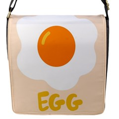 Egg Eating Chicken Omelette Food Flap Messenger Bag (s)