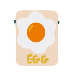 Egg Eating Chicken Omelette Food Apple iPad 2/3/4 Protective Soft Cases