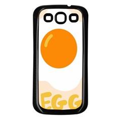 Egg Eating Chicken Omelette Food Samsung Galaxy S3 Back Case (black)