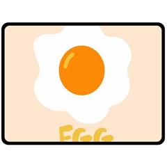 Egg Eating Chicken Omelette Food Double Sided Fleece Blanket (large)