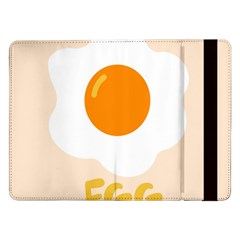 Egg Eating Chicken Omelette Food Samsung Galaxy Tab Pro 12 2  Flip Case