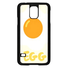 Egg Eating Chicken Omelette Food Samsung Galaxy S5 Case (black)