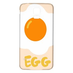 Egg Eating Chicken Omelette Food Samsung Galaxy S5 Back Case (White)